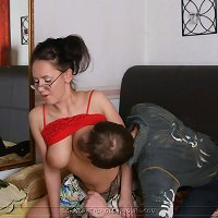Mom in high heels and son incest pics